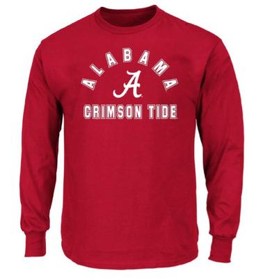 Alabama Big & Tall Arch Logo Long Sleeve Tee