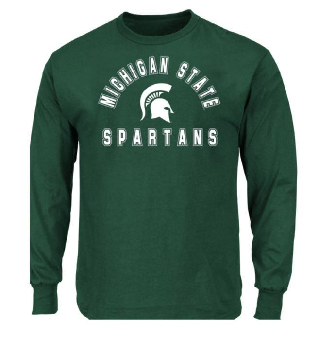 Michigan State Big & Tall Arch Logo Long Sleeve Tee