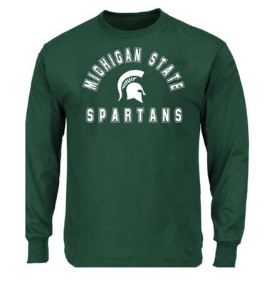 Michigan State Big & Tall Arch Logo Long Sleeve Tee