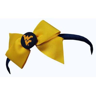 West Virginia Jenkins Headband with Bow