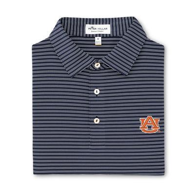 Auburn Peter Millar Mascot Stripe Jersey Polo