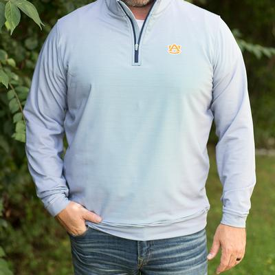 Auburn Peter Millar Perth Stripe Quarter Zip