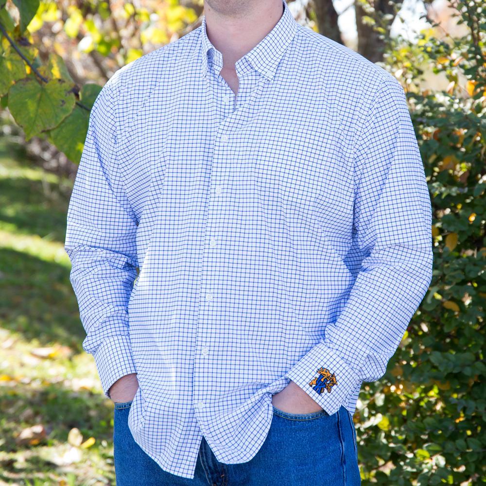 Kentucky Peter Millar Men's Woven Tattersall Shirt