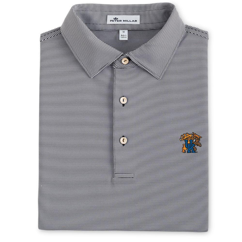 Kentucky Peter Millar Jubilee Stripe Jersey Polo