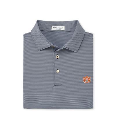 Auburn Peter Millar Jubilee Stripe Jersey Polo