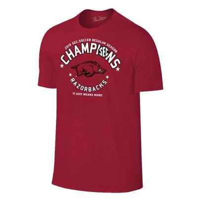 Arkansas Women's 2019 Soccer Regular Season Champions Tee Shirt