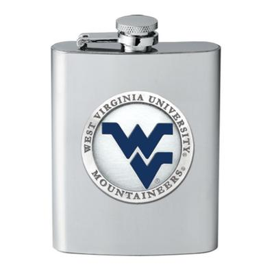 West Virginia Heritage Pewter Blue WV Flask