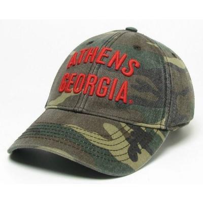 Georgia Athens Letters Camo Hat