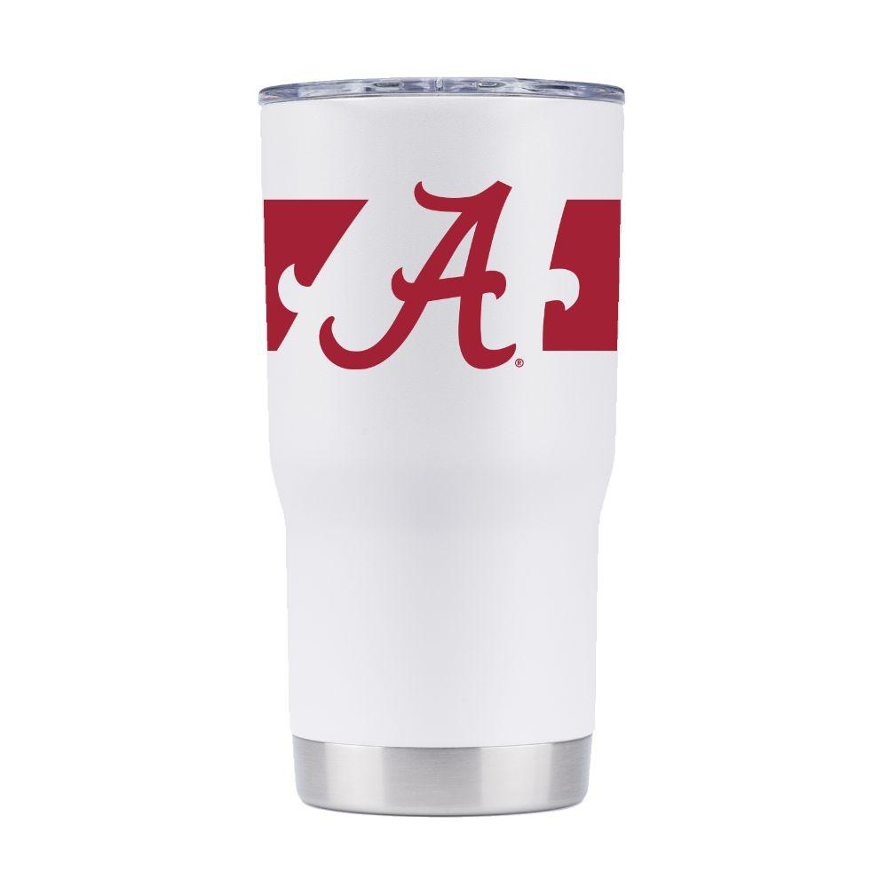 Alabama 20 Oz.360 White Tumbler
