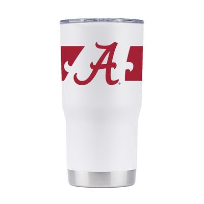 Alabama 20 oz. 360 White Tumbler