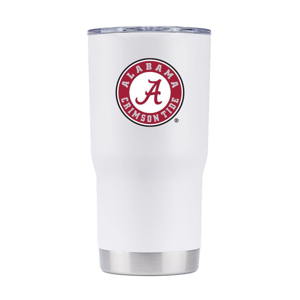 Alabama 20 Oz.360 Logo White Tumbler