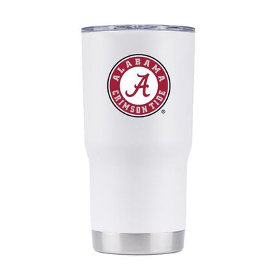 Alabama 20 oz. 360 Logo White Tumbler
