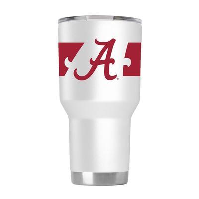 Alabama 30 oz. 360 Script White Tumbler