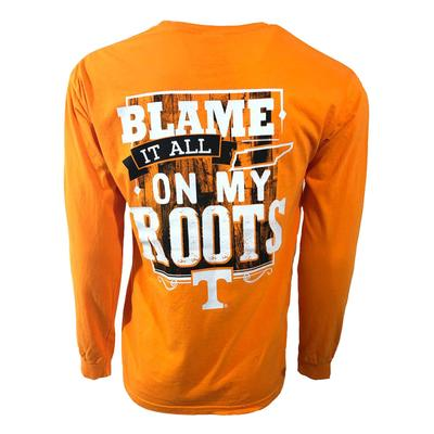 Tennessee Men's Blame It All On My Roots Long Sleeve Shirt
