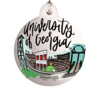 Georgia Glory Haus UGA Landmark Ball Ornament