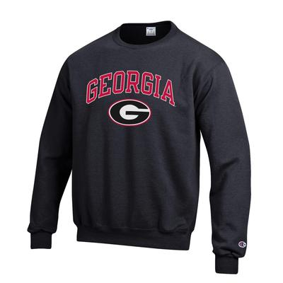 Georgia Screen Crew Arch Sweatshirt BLACK