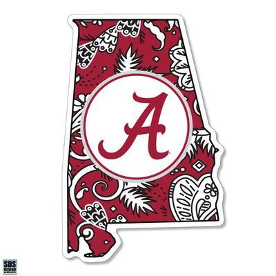 Alabama SDS Design Paisley Decal