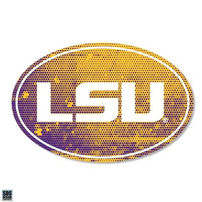 LSU SDS Design Halftone Decal