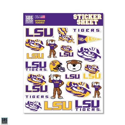 LSU SDS Design Sticker Sheet