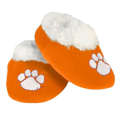 Clemson Infant Fur-Lined Baby Booties