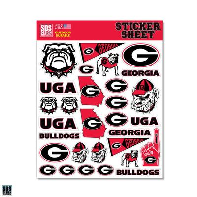 Georgia SDS Design Sticker Sheet