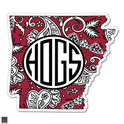 Arkansas SDS Design Paisley Decal