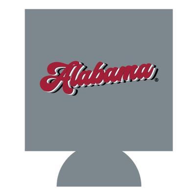 Alabama Retro Script Koozie