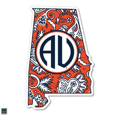 Auburn SDS Design Paisley Decal