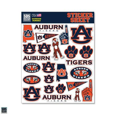 Auburn SDS Design Sticker Sheet