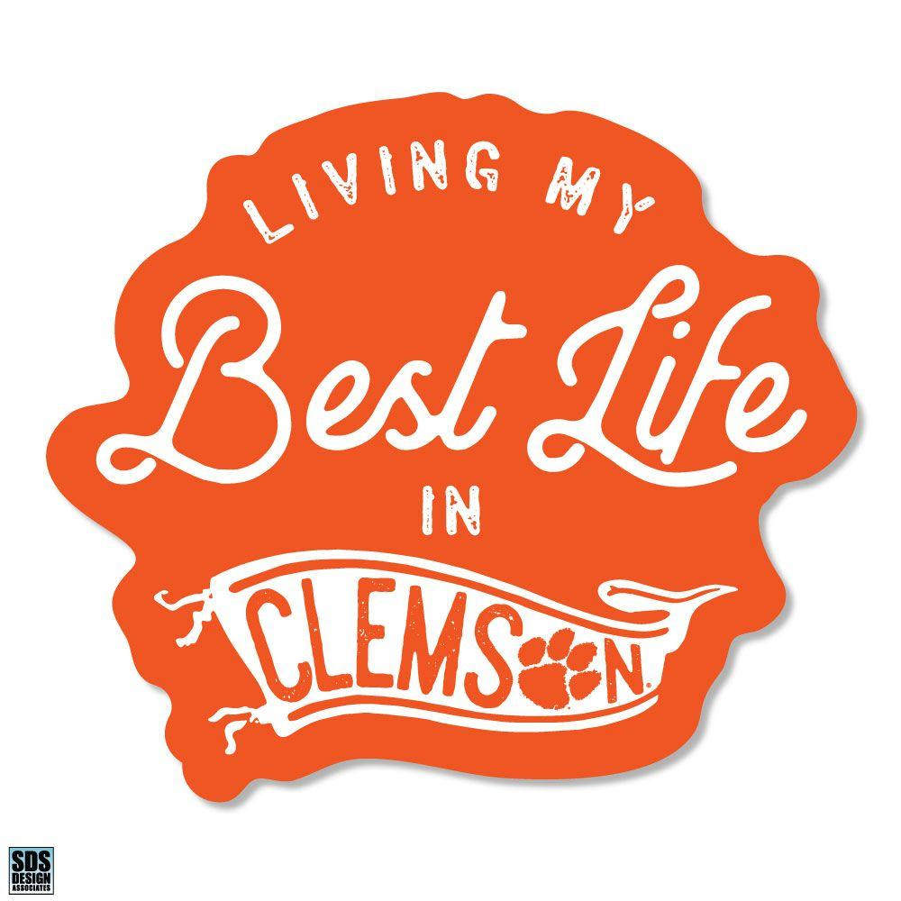 Clemson Sds Design Best Life Decal
