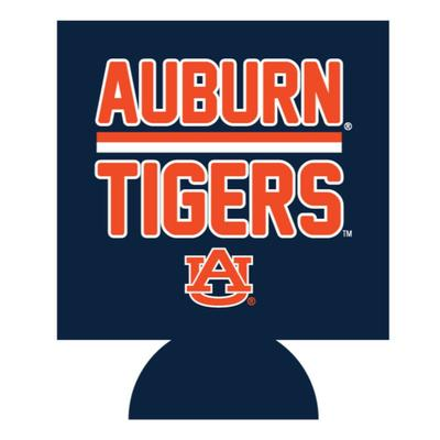 Auburn Tigers Bar Logo Koozie