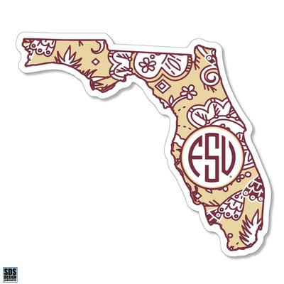 Florida State SDS Design Paisley Decal