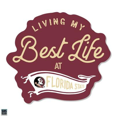 Florida State SDS Design Best Life Decal