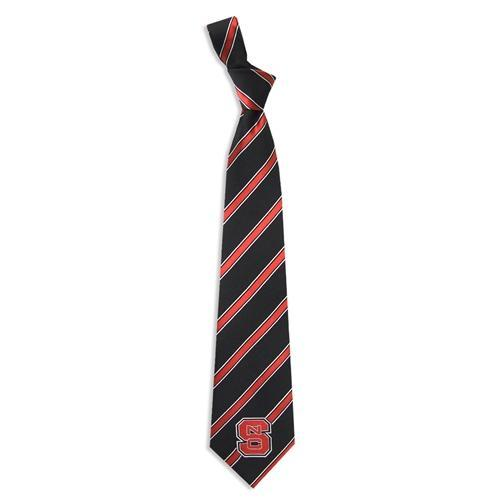 Nc State Woven Polyester Stripe Tie