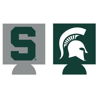 Michigan State Home and Away Koozie