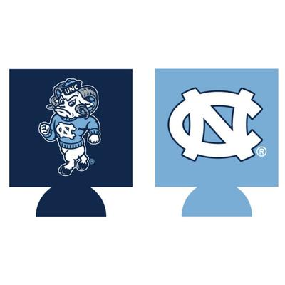 UNC Home and Away Koozie