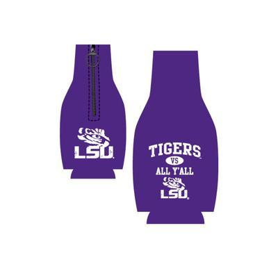 LSU Tigers Vs. All Y'all Bottle Koozie