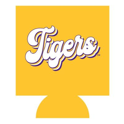 LSU Tigers Retro Script Can Cooler