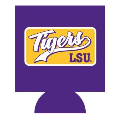 LSU Tigers Patch Koozie