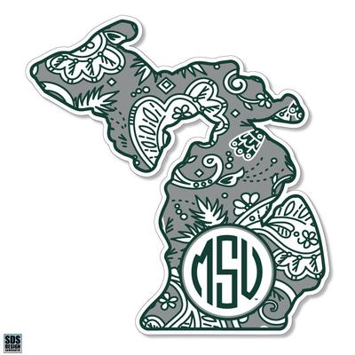 Michigan State SDS Design Paisley Decal