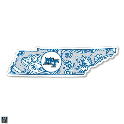 MTSU SDS Design Paisley Decal