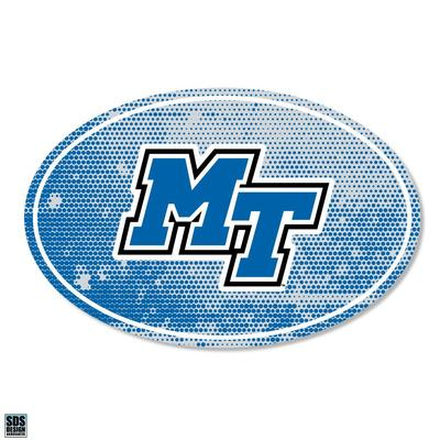 MTSU SDS Design Halftone Decal