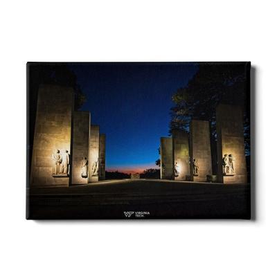 Virginia Tech War Memorial Sunset Canvas
