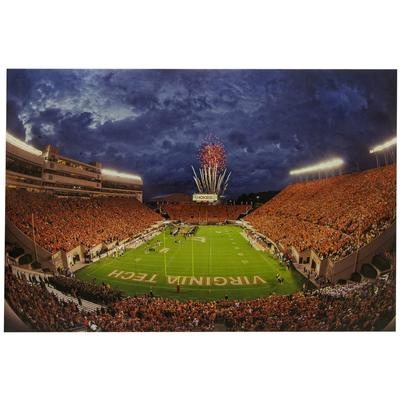 Virginia Tech Lane Stadium Orange Effect Canvas
