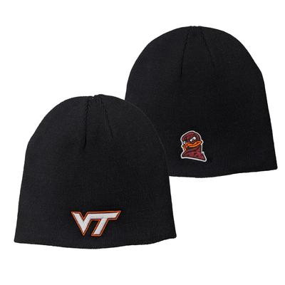 Virginia Tech Uncuffed Black Beanie