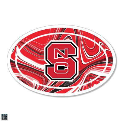 NC State SDS Design Marble Decal