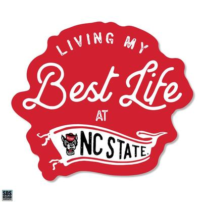 NC State SDS Design Best Life Decal