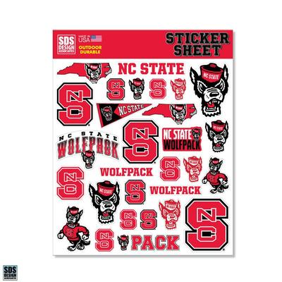 NC State SDS Design Sticker Sheet