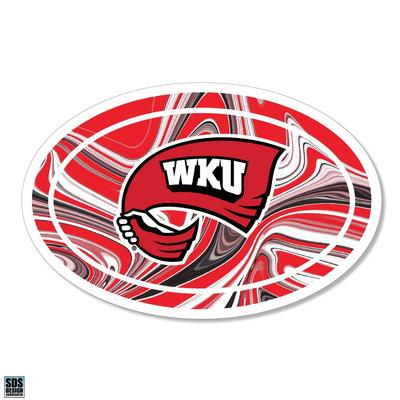 Western Kentucky SDS Design Marble Decal