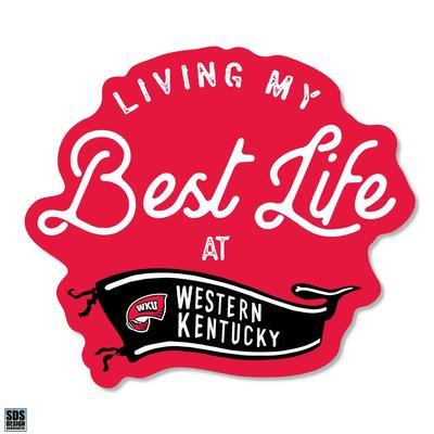 Western Kentucky SDS Design Best Life Decal